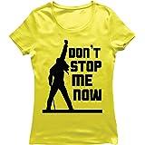 lepni.me Camiseta Mujer Don't Stop me Now! Camisas de Abanico, Regalos de músicos, Ropa de Rock