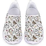 Woisttop Scarpe da Corsa Unisex da Donna Ballerine Mesh Sneakers da Palestra Sportive alla Moda con Slip-on Walking Jogging,