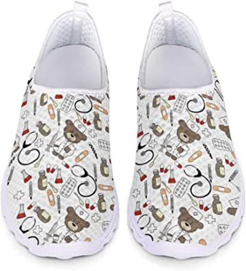 Woisttop Scarpe da Corsa Unisex da Donna Ballerine Mesh Sneakers da Palestra Sportive alla Moda con Slip-on Walking Jogging, EU35-43