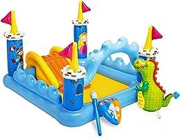 لعبة حمام السباحة مع زحليقة قابلة للنفخ شكل قلعة للاطفال من انتيكس 57138