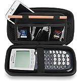 Coque ProCase Hard EVA Texas Instruments Ti-84 Plus, Durable Stockage de Voyage Housse de Protection Ti-84 Ti-83 Ti-85 Ti-89 Ti-82 Plus/C Calculatrice Graphique CE Plus -Noir