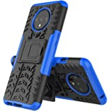 Teckraft Kickstand Hard Back Cover for OnePlus 7T (Poly carbonate,Blue)