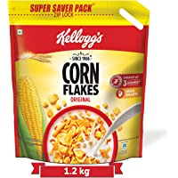 Kellogg's Corn Flakes Original, High in Iron, High in B Group Vitamins, Breakfast Cereals, 1.2 kg Pack