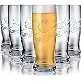 Tivoli Plzen Verres à bière - 600 ML - Jeu d'6 - Verres de Haute qualité - Lavable au Lave-Vaisselle - Verres en Cristal