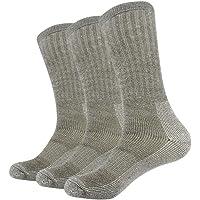 Vihir Men's Cushioned Thick Merino Wool Crew Sock for Skiing, Trekking, Hiking