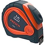 Presch meetlint 3m - Robuust meetlint met stevige riemclip en automatisch oprolsysteem - Professioneel meetlint 3m