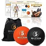 5BILLION Balles de Massage – Mobilité Balles balles et Crosse Haute densité pour la thérapie Physique – Outil de Massage pour Tissus Profonds, moiur, Muscle Relax, accupoint de Massage – Lot de 2