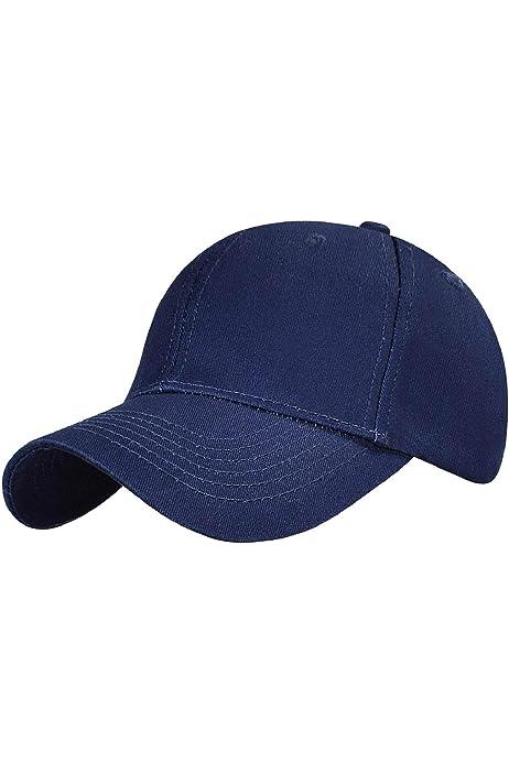 LIVACASA Gorras de B/éisbol para Mujeres Baseball Cap Transpirable para Deportes 1 Pcs Algod/ón Cola de Caballo para Verano