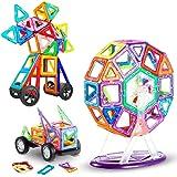 LIVEHITOP 116 Piezas Bloques de Construcción Magnéticos – 3D Juego Imanes Juguete Educativo Creativo Cumpleaños Regalo día de