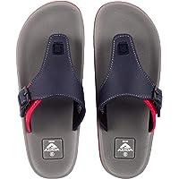 ADDA ADAM Men's Black/Grey PVC,TPR Slipper Flip-Flop