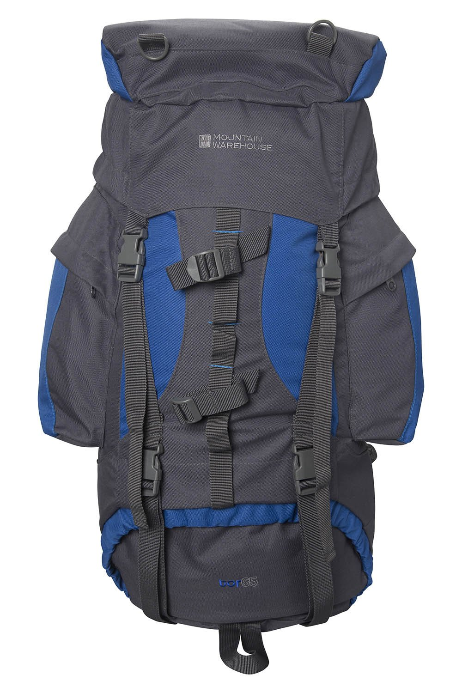 Mountain Warehouse Tor 65L Spacious Rucksack – Ladderlock Back Travel Backpack