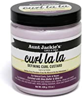 Aunt Jackies Curl La La Custard Crème de Definition de Boucles Enrichie en beurre de karité et en huile d'olive - Pot de 426 g
