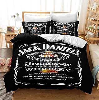 ACJIA Jack Daniels Bettwäsche, Englisch Alphabet Druck