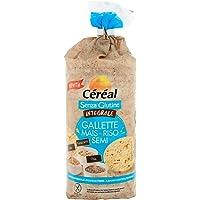 Céréal Gallette di Riso integrale, mais con Semi di chia, semi di lino, amaranto, Snack di riso integrale in tubo - 115…