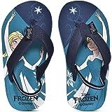 Disney Frozen Kids Girls Sea Blue Flip-Flops by Toothless