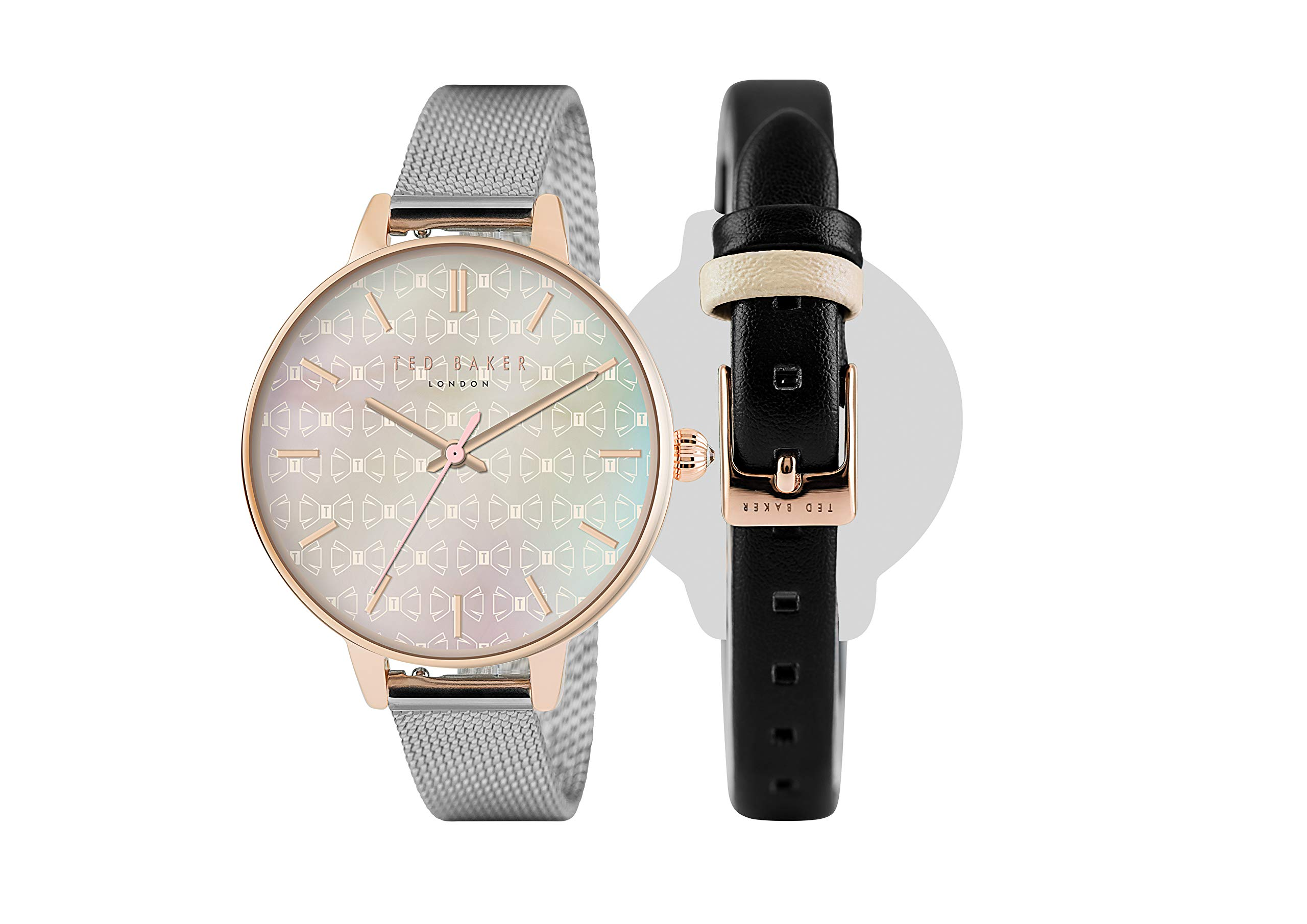Ted Baker Ladies Womens Interchangeable Strap Rose Gold Wrist Watch TEW50013002