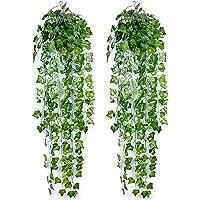 Ousuga Faux Plantes,Lierre Artificielle Plantes Guirlande Vigne 2 Pièces Faux Lierre Artificielle Guirlande Décoration…