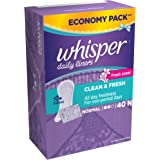 Whisper Daily Liners Clean and Fresh 40N