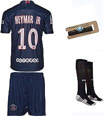 PSG Paris Saint Germain Neymar #10 2018/19 Heim Trikot und Shorts mit Socken und Wickel Armband Kinder und Jugend Größe
