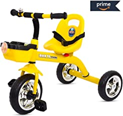 Baybee Speed Racing - The Smart Plug and Play Baby / Kids Tricycle ( Yellow )