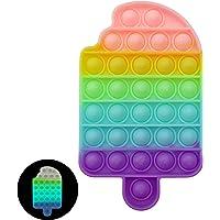 Luximi - Pop it Fluo Cornet de glace - Poppit arc en ciel pastel - fluorescent lumineux la nuit - pop -it phosphorescent…