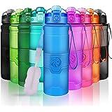ZORRI Botella de Agua Deportiva-400ml/500ml/700ml/1000ml-sin BPA & a Prueba de Fugas, Reutilizable de plastico tritan, Agua B