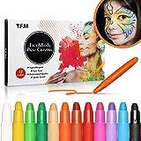 Pastelli Dipinti Y.F.M Face Painting Trucchi per Feste 12 Colori, Kit Pittura Pancia, Non Tossico, Non Allergico, Facile…