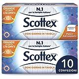 Scottex Scottex Tovaglioli Monovelo Formato Scorta Salvaspazio, 10 Confezioni Da 288 Tovaglioli - 80 Gr