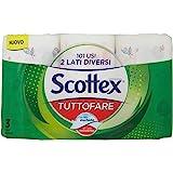 Scottex Tuttofare, Due Lati Diversi, 3 Maxi Rotoli - 520 Gr