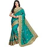 Glamify Women's silk Saree With Blouse Piece