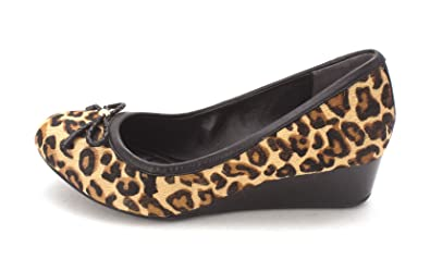 Cole Haan Womens Cassiesam Closed Toe Wedge Pumps Leopard Prints Size 6.0