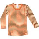 Unbekannt Cosilana - Camiseta interior de manga larga para niño (lana y seda) Rayas naranja. 6 años