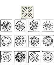 Healifty Mandala Dotting Painting Templates Stencils Set for DIY Painting Art Craft 13pcs