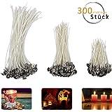 ANPHSIN 300 Stück Kerzendochte, Docht, Candle Wick, Flachdocht in 3 verschiedenen Größen (90 mm,150 mm and 200 mm) für die Kerzenherstellung, Kerze DIY