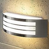 CGC Stainless Steel Silver Curved Arc Outdoor Wall Light Indoor Garden Patio Porch Door Garage