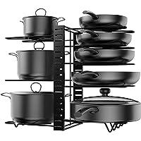 Porte Casserole Cuisine Range Poêle et Casserole Détachable Organiseur de Poêle Réglable en Acier Inoxydable pour…