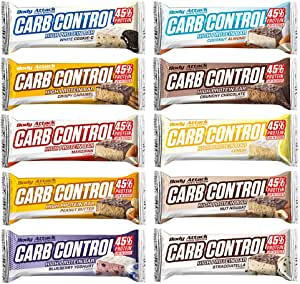 Body Attack Carb Control Protein Riegel Mix Box 10x100g