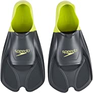 Speedo Unisex Adult Training Fin - Grey/Green, Size 8-9