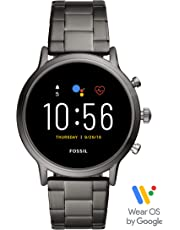 Fossil Gen 5 Carlyle Stainless Steel Touchscreen Smartwatch with Speaker, Heart Rate, GPS and Smartphone Notifications - FTW4024