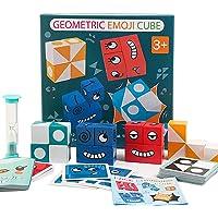 FancyWhoop Cubes de Construction de Puzzle dexpression, Cubes de Puzzle géométrique drôle Emoji, Cube en Bois Jouets…