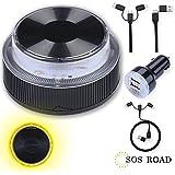 NK SOS Road - Luz de Emergencia Coche + Kit Auto 6 en 1, Luz de Emergencia Autónoma, Luz LED, Señal V16 de Preseñalización de