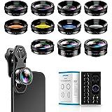 Apexel - Kit de lentes para cámara de teléfono 11 en 1, lente gran angular y lente macro, lente ojo de pez, ND32, caleidoscop