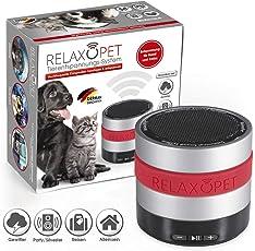 RelaxoPet Entspannungsgerät | Hund und Katze | Beruhigung durch Klangwellen | Ideal bei Gewitter, Feuerwerk oder auf Reisen | Hörbar und unhörbar | 5V, kabellos