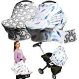 Infant Stroller Cover Flywill Nursing Cover Breastfeeding Scarf Baby Car Seat Covers for Newborns Carseat Canopy for Girls and Boys
