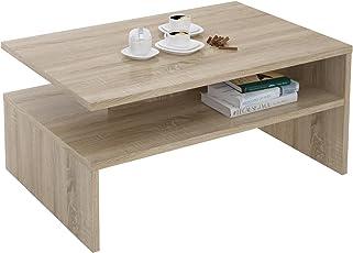 CARO Möbel Couchtisch Wohnzimmertisch Sofatisch Paulina 90 X 60 Cm In  Sonoma Eiche Mit Ablagefläche