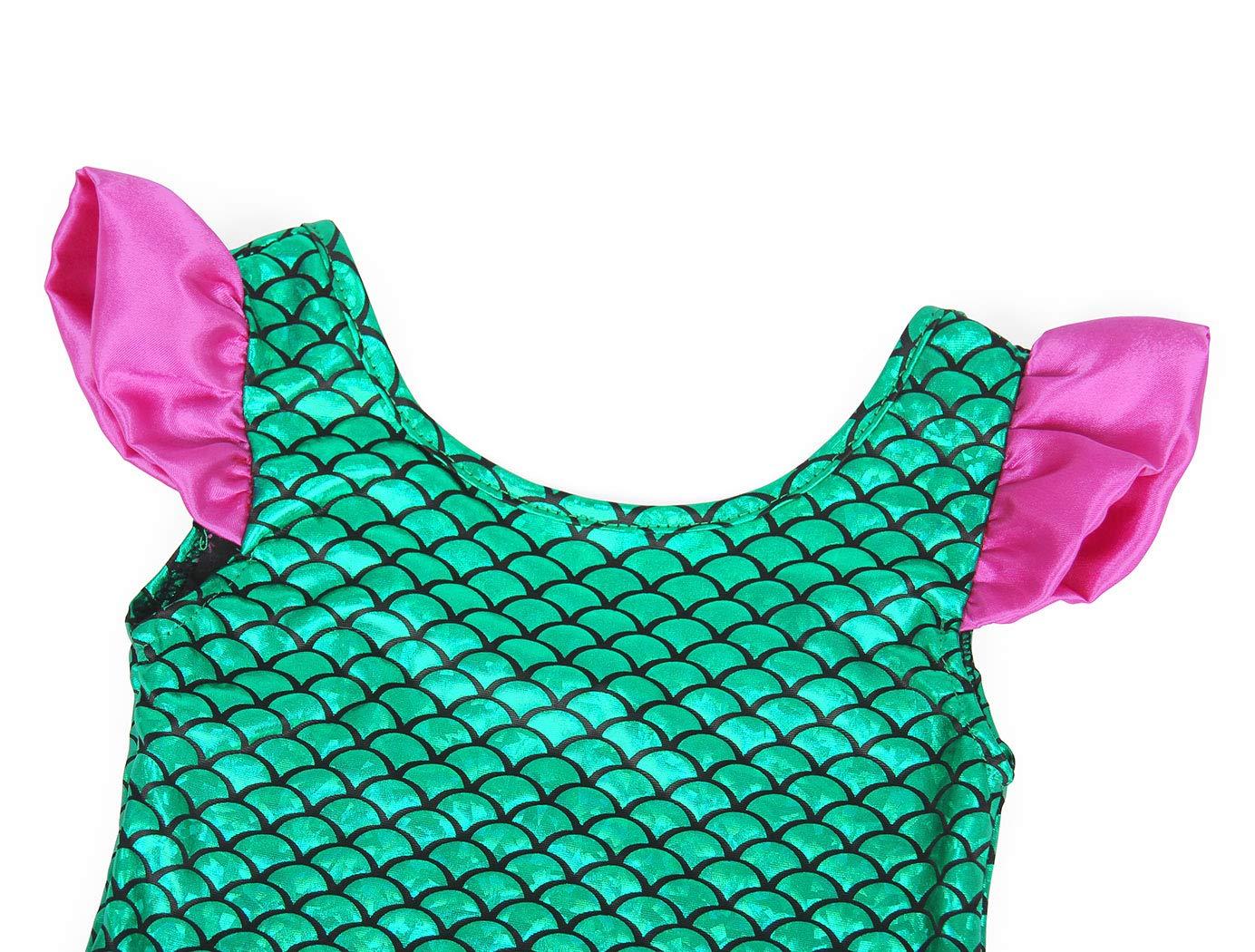 AmzBarley Costume da Bagno Coda di Sirena Bambina Ragazza Tre Pezzi Nuoto Costumi Bambini Festa Fantasia Compleanno Cosplay Vestirsi Spiaggia Mare Piscina Vacanza Partito Fotografia Set di Vestiti