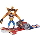 Crash BANDICOOT - Action Figure - Deluxe Hoverboard Crash - 18 cm
