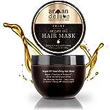 Argan Deluxe hårmask i professionell kvalitet 250 ml – hårbehandling med arganolja för intensiv vård – för att uppnå ren jämn