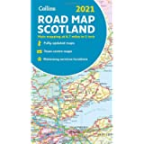 Map of Scotland 2021: Folded road map (Collins Road Atlas)