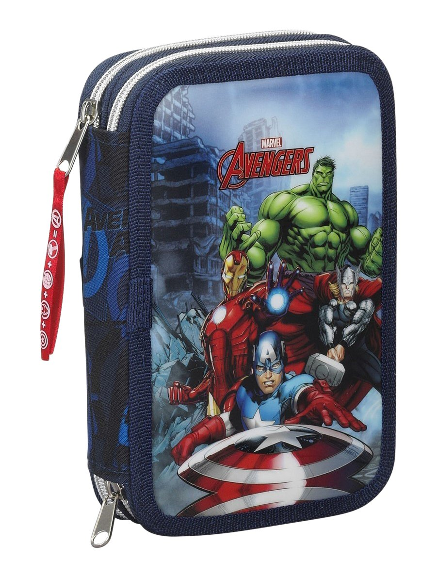 Avengers – Plumier Doble pequeño 34 Piezas (SAFTA 411634054)